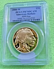 2006-W $50AMERICAN GOLD BUFFALO  PCGS PR70DCAM -BLUE LABLE