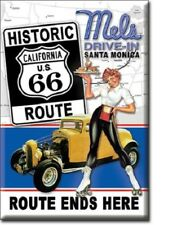 """2"""" X 3"""" Mel'S Drive In California Us Route 66 Ends Here Refrigerator Magnet New"""