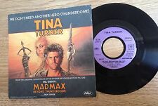 SP 45 tours BOF Mad Max beyond thunderdome Tina Turner Mel Gibson 1985 EXC