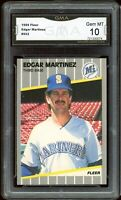 1989 Fleer #552 Edgar Martinez 2nd Year Graded GMA 10 GEM MINT ~ COMP PSA 10