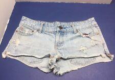 American Eagle Ripped Blue Jean Shorts Size 0 !! EUC!! Nice 👍 Item!!!