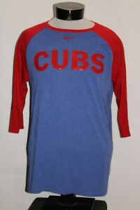 NIKE Chicago CUBS Mens Large L 1/2 sleeve T shirt Combine ship Discount