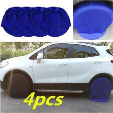 "Blue Tire Covers Set of 4 Wheels 32"" Diameter RV Auto Truck Car Camper Trailer"