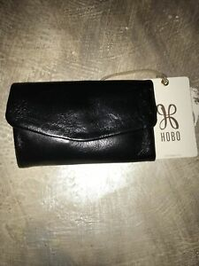 "HOBO INT'L ""Lacy""  Black Leather Mini Trifold Wallet.  *NWT* MSRP $68.00"