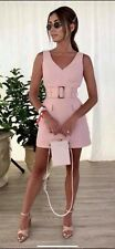 FOREVER NEW SASHA BELTED SAFARI PINK DRESS BN SZ 14 Wedding Party Cocktail