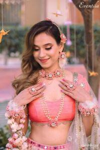 Flower Jewelry For Bridal haldi,Mehendi,baby Shower,Flower,Floral HandmadJewelry