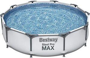 Bestway Steel Pro MAX Frame Swimming Pool 10ft x 30in Paddling Outdoor Garden