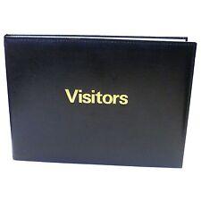 BLACK Deluxe A4 IMBOTTITA visitatori GUEST BOOK 60 pagine TELEFONO indice