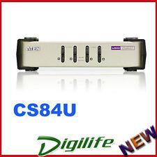 Aten CS84U 4 Port PS2-USB KVM Switch, Windows/ Linux/ Mac/Sun 2048 x 1536 CS-84U
