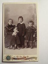 Heidenheim a. Br. - 3 Kinder - Junge - Mädchen mit Puppe - Portrait / CDV
