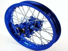 "12"" BLUE REAR RIM WHEEL CNC HUB PIT BIKE FOR DISC BRAKE 15MM AXLE SIZE RM12B"