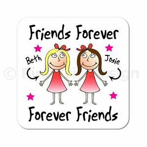 Personalised Friends Forever Best Friends Christmas Birthday Gift Coaster