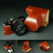 Genuine real Leather Full Camera Case bag Cover for Sony Rx1 Rx1R Bottom Open