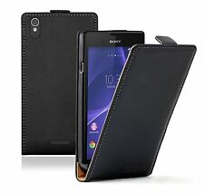 Leather Flip Case Cover Pouch Saver for Mobile Phone Sony Xperia T3 / Experia