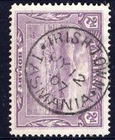 Tasmania nice 1907 IRISH TOWN pmk (type 1) on 2d pictorial rated S- (4)