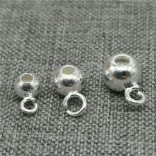 20pcs of 925 Sterling Silver Bail Bead Spacer for Bracelet Necklace