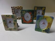"Hand Made Ceramic Picture Frames (2"" x 3"" photo size)"