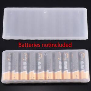 1PC White 10 Grid Battery Holder Organizer Container AA Batteries Storage B TM