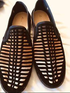 Rovieras Men's Suede & Fabric Slip-On Shoe NIB Sz 11
