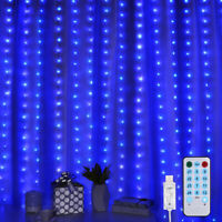 300 LED Curtain_Fairy String Hanging Wall Lights USB Window Wedding Party Decor