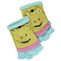 David & Young Critter Animal Gloves - Hand Flip Top Style - FROG