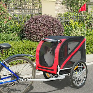 PawHut Bicycle Pet Trailer Dog Folding Jogger Stroller Carrier Cycle Luggage