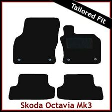 Skoda Octavia Mk3 2012 onwards Tailored Fitted Carpet Car Floor Mats BLACK