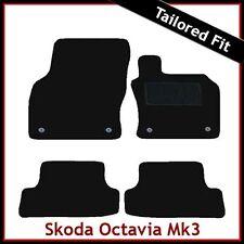 Skoda Octavia Mk3 2012 onwards Tailored Fitted Carpet Car Floor Mats BLACK
