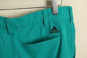 "Adidas Golf Men's green w/ black detail flat front shorts 34 10"" inseam"