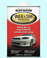 Auto Wax Tar Grease Remover 1 QT. Fast-Acting Clean Road Grime Dirt Sanding Prep