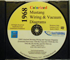1968 Colorized Mustang Wiring Diagrams (CD-ROM)