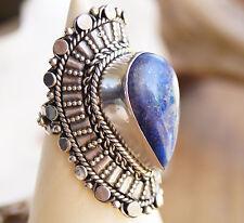 "EXTREM Massiv Silberring 63 Lapis Lazuli ""Antik"" Handarbeit Ring Silber DICK"