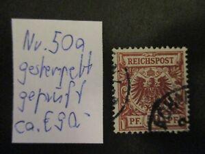 Deutsches Reich 1889, Freimarken: Krone/Adler - Mi-no: 50a - geprüft - AL9
