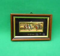 Vtg Framed Miniature Art Gold Leaf Painting Italy Siena Hand Painted Collectible