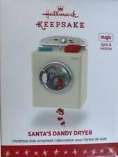 Hallmark Santa's Dandy Dryer Ornament Magic Light Motion 2016