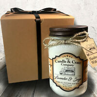 Lavender And Sage, 16oz. Mason Jar, Handmade Soy Candles that smell AMAZING!
