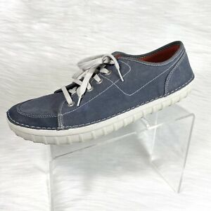 Clarks Collection Mens Fashion Sneakers Blue Canvas Size 13 M