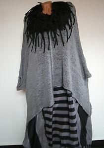 Moonshine Kombi Ballon Kleid Taftrock + Pullover  grau schwarz  46 48 50 52
