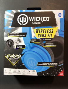 Wicked Audio Blue Endo Wireless Bluetooth Headphone NEW