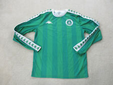 VINTAGE Kappa Soccer Jersey Adult Large Green White Long Sleeve Mens 90s