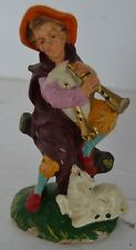 Vintage Paper Mache Nativity Boy With Sheep Italy