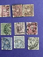 Germany Empire Stamp 1875-79, Used 9 Pcs Stamps,see Photos
