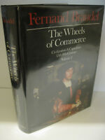 THE WHEELS OF COMMERCE Fernand Braudel 1st US Edition 1982 Harper and Row VG/VG