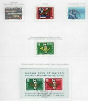 S22557) Switzerland 1959/63 VF Used - Collection Of Used Sets (12 Scans)