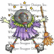 Halloween Splat Witch Unmounted Rubber Stamp Whipper Snapper Designs New MY798