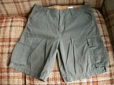 "Timberland Mens 34 (Actual 35x10) ""Authentic Outdoor Gear"" Olive Cargo Shorts"