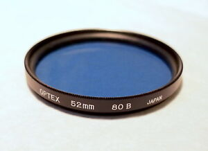 52mm OPTEX 80B Filter - Blue Color Correction Filter - PERFECT