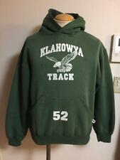 Russell Athletic College Logo Hoodie Size M Dark Green Vintage Made USA Men's