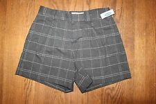 Old Navy Women's Tailored Grey Plaid Shorts Size 4