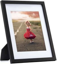 10' X 8' Black Wooden Picture Frames, Wall Mount, Desk Mount, Graduation Picture